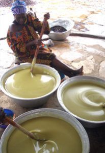 extracting shea butter
